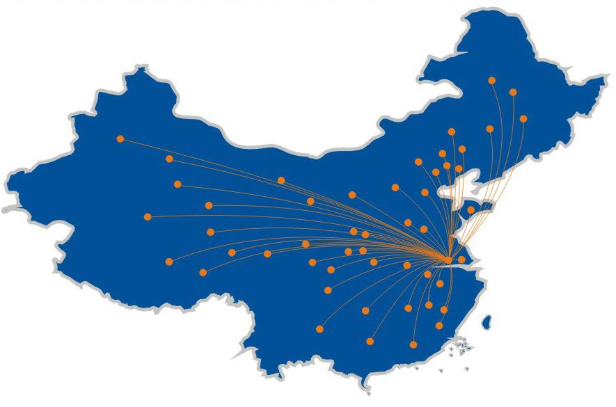 中国客户的分布