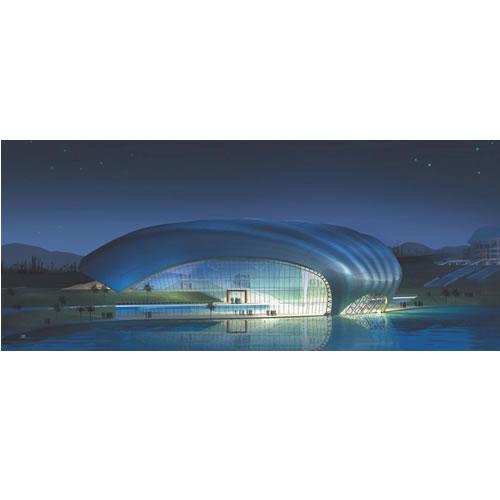 青岛市体育中心游泳跳水馆