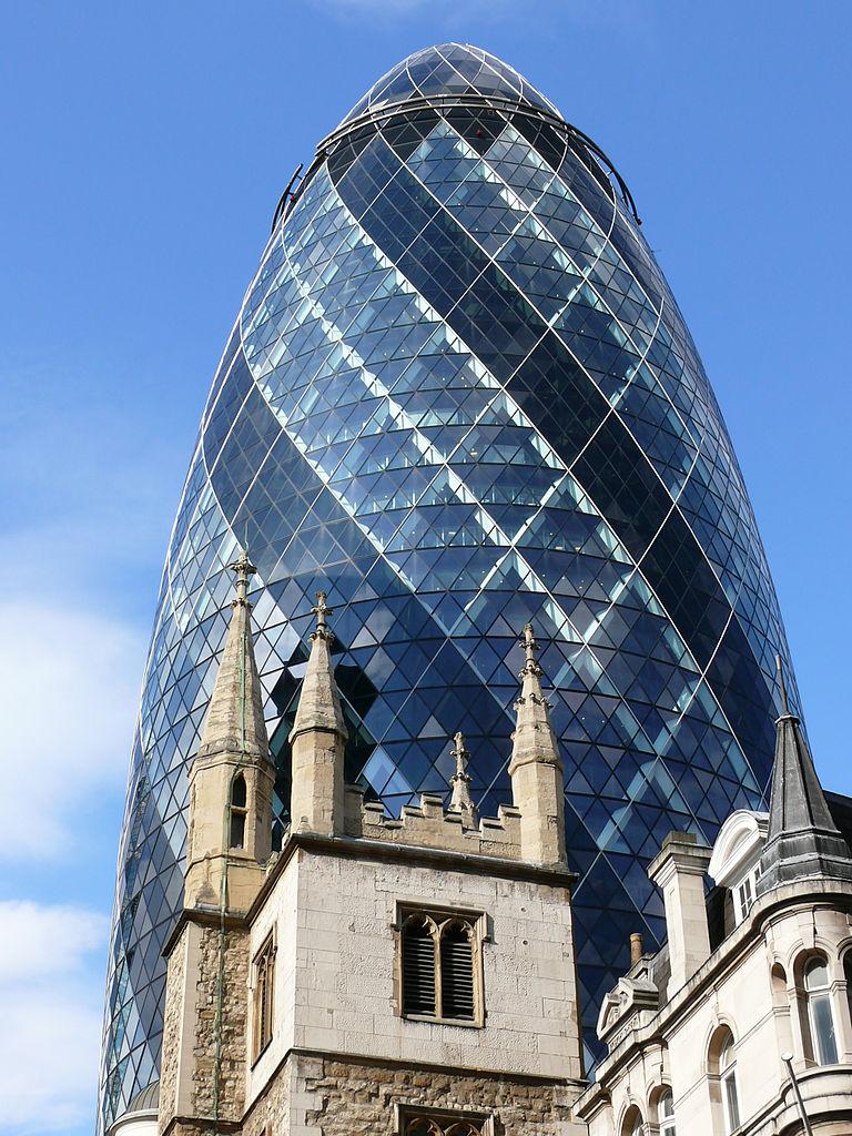 瑞士再保险塔位于英国伦敦