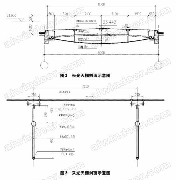 支撑结构采用自平衡钢桁架