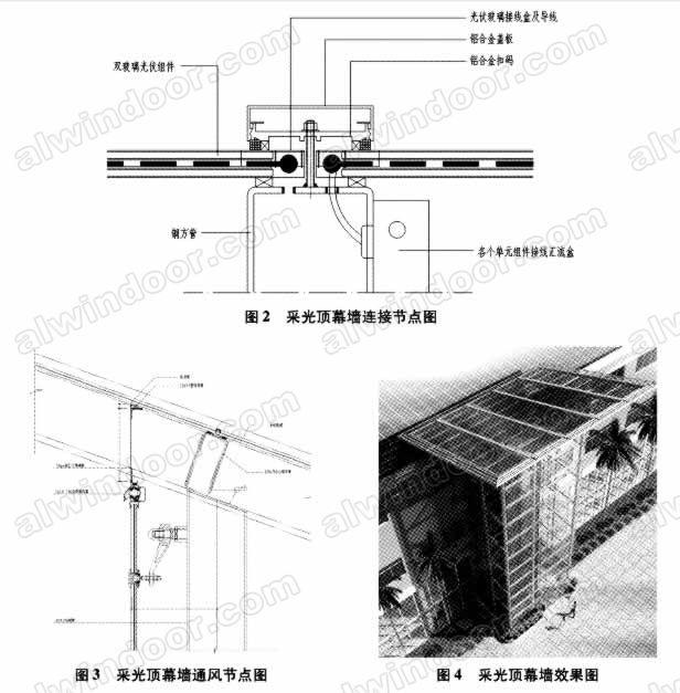 应用于光伏幕墙并网发电的系统