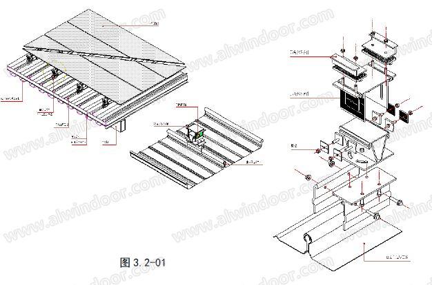 屋顶类型手绘图片