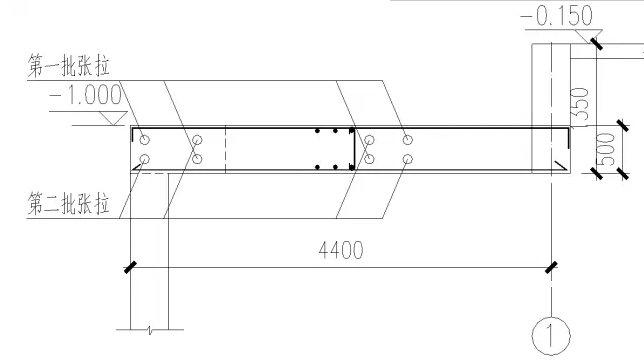 大跨钢结构拱脚水平推力预应力张拉施工过程模拟分析