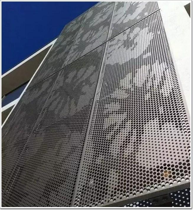 穿孔铝板在建筑幕墙外立面中的应用