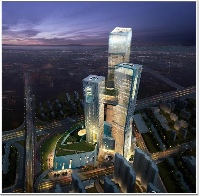 同一些比较常见的双子塔楼相比