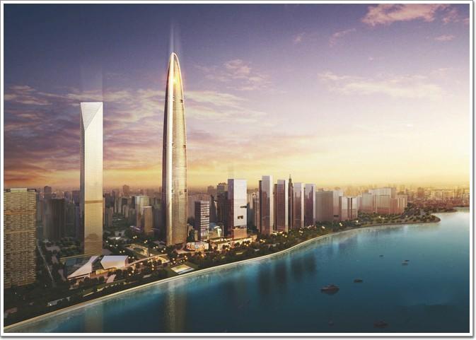武汉绿地中心整体效果图-华中地区 湖北 湖南 河南 第一高楼展播