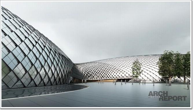 同时,还在建筑内部进行了常规bim设计,使上部网壳围护结构的构造,空间
