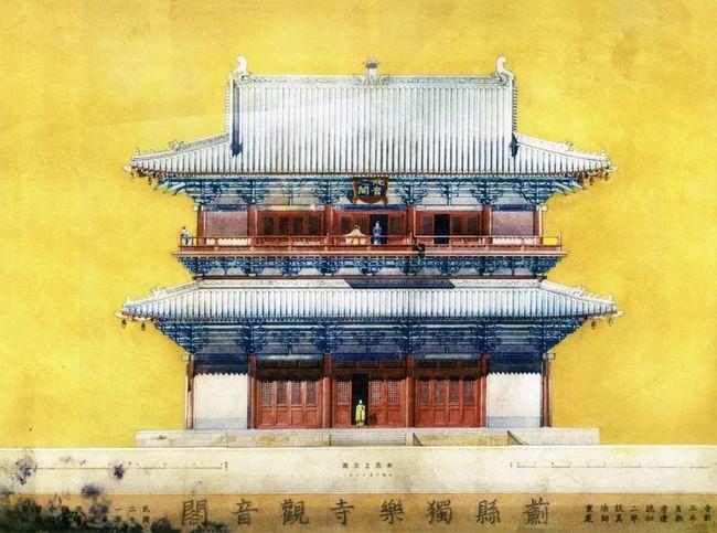 (源自《梁思成图像中国建筑史手绘图》)   当然还有非常多的斗栱详图