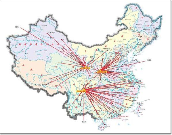 分别位于甘肃省兰州市七里河区,四川省乐山市的夹江县,陕西省铜川市的
