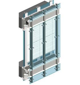 首先将构成玻璃幕墙的单元(骨架材料,玻璃,保温隔热材料)在专门的工厂